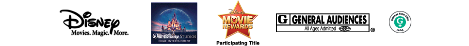 Disney | Walt Disney Studios Home Entertainment | Rated G | Disney BDLive Network | Disney Movie Rewards Participating Title