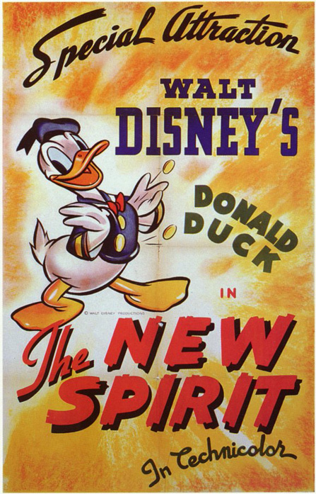 Donald Duck in The New Spirit