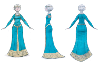 Merida Dress Visual Development Art