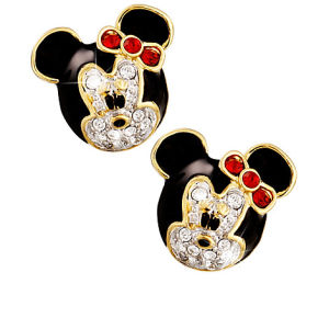 minnie mouse earrings by arribas disney store