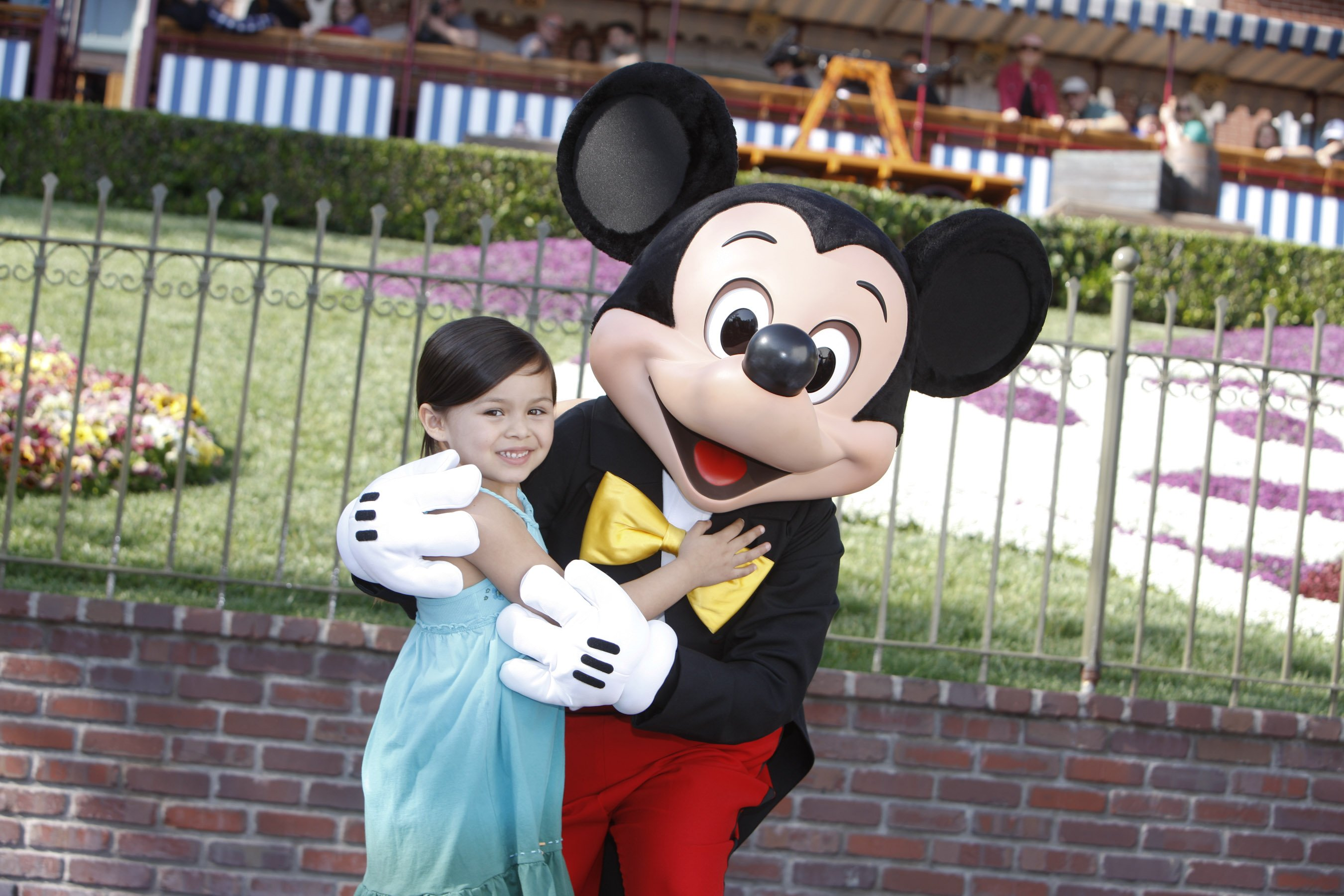 Mickey and Girl at Disneyland