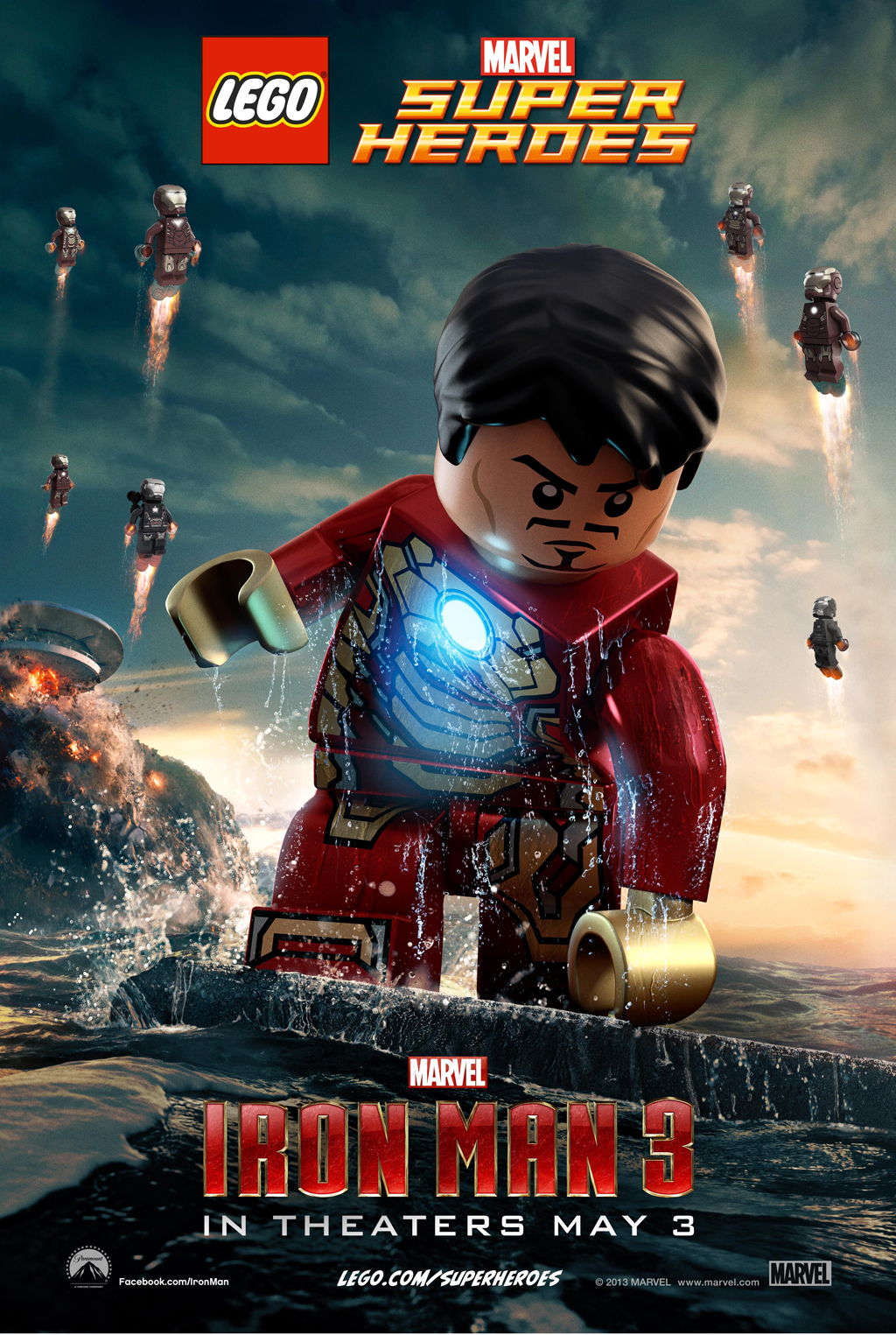 Marvel&#039;s Iron Man 3 LEGO Poster