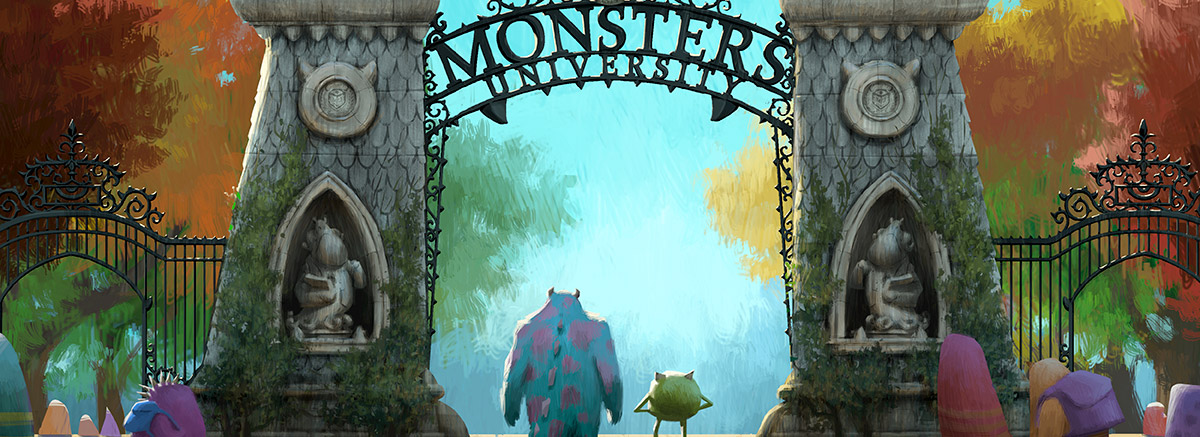 Monsters University Gate Concept Art Header
