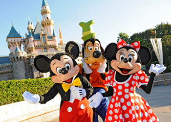 Mickey, Minnie and Goofy