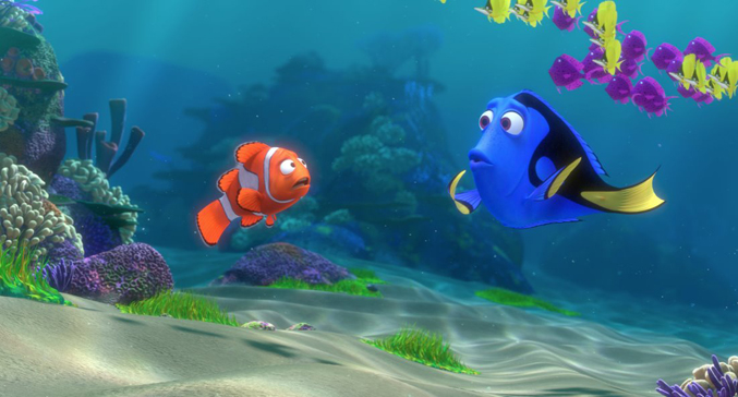 Pixar film, Dory and Marlin from Finding Nemo