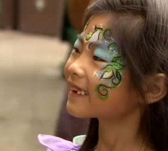 Disneyland Fairy Face Painting