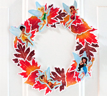 Fairies Fall Leaf Wreath