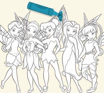 Disney Fairies Coloring Page - Fairies Group