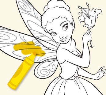 Disney Fairies Coloring Page - Iridessa 1