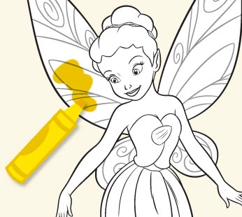 Disney Fairies Coloring Page - Iridessa 2