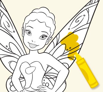 Disney Fairies Coloring Page - Iridessa 3