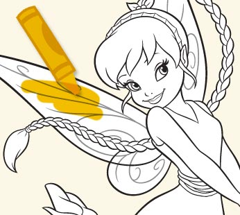 Disney Fairies Coloring Page - Fawn 1