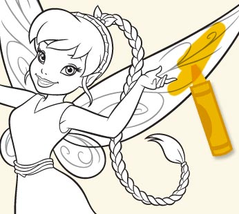 Disney Fairies Coloring Page - Fawn 2