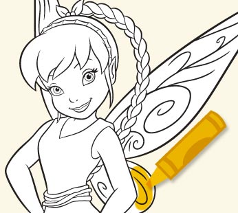 fawn the fairy coloring pages - games activities disney fairies