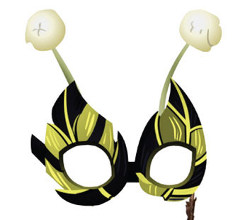 Animal Masquerade Bee Mask