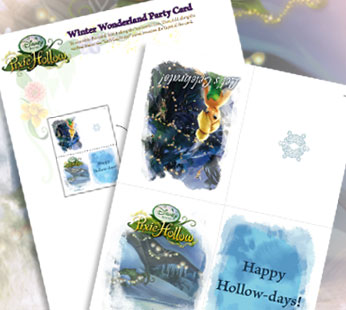 Winter Wonderland Party Card