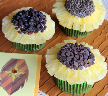 Iridessa's Good Luck Sunflower Cupcakes