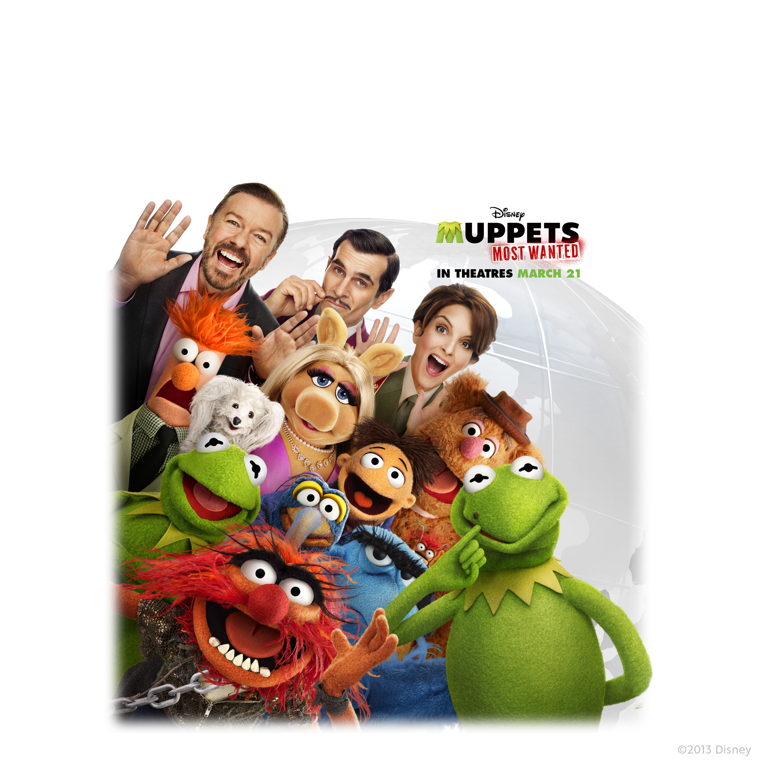 Wallpaper: Muppets Most Wanted (iPad)