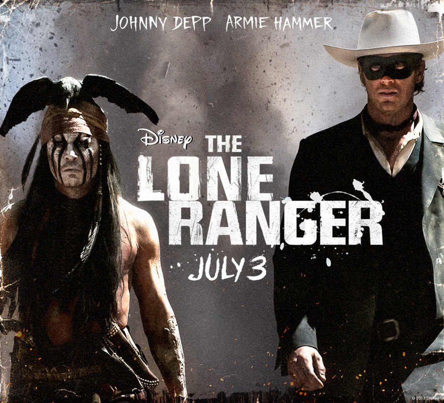 Movie release promotional photo for The Lone Ranger, courtesy Disney Pictures