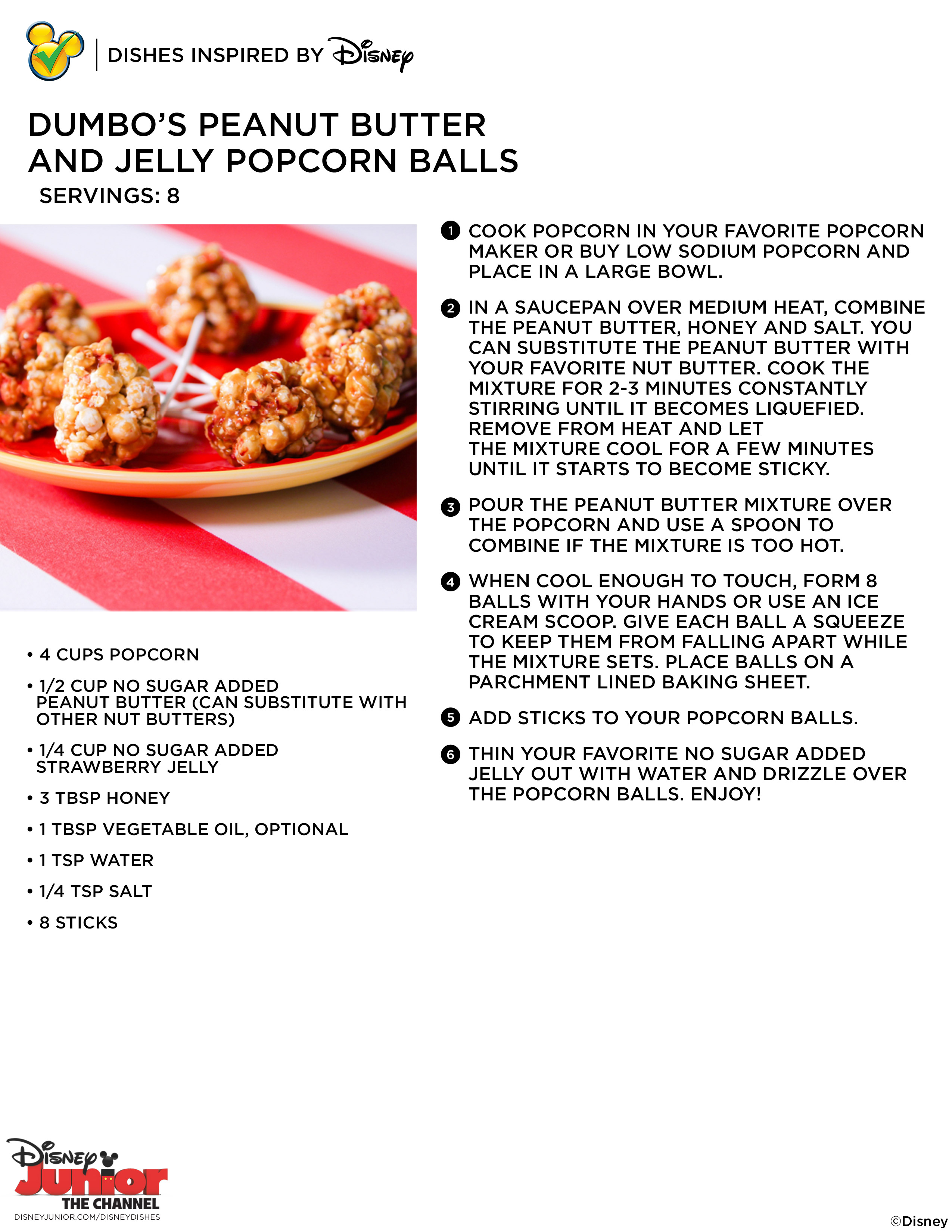 Dishes inspired by disney disney junior for grown ups dumbos peanut butter jelly popcorn balls forumfinder Image collections